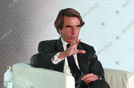 Former Spanish Prime Minister Jose Maria Aznar takes part in the I Expansion International Economic Forum in Alcala de Henares, Madrid, 27 October 2020.