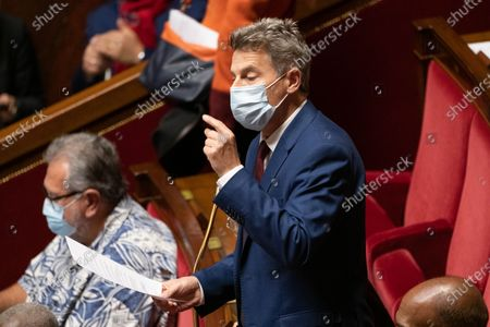 Fabien Roussel during the weekly session of questions to the government at the French National Assembly.