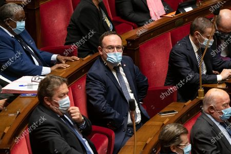 Damien Abad during the weekly session of questions to the government at the French National Assembly.
