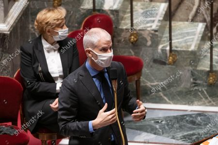 French Junior Minister of Foreign Trade Franck Riester during the weekly session of questions to the government at the French National Assembly.