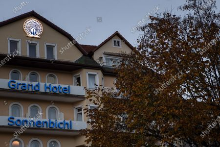 Exterior view of the Grand Hotel Sonnenbichl in Garmisch-Partenkirchen, Germany, 27 October 2020. According to media reports, the town's Grand Hotel Sonnenbichl was chosen by Thai King Maha Vajiralongkorn and his entourage to spend their quarantine amid the ongoing coronavirus pandemic. Local media report that the Thai monarch, who was crowned Rama X in 2019, lives for much of his time with his household in the southern German state of Bavaria.