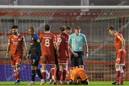 Editorial photo of Crawley Town v Tranmere Rovers, EFL Sky Bet League 2 - 27 Oct 2020