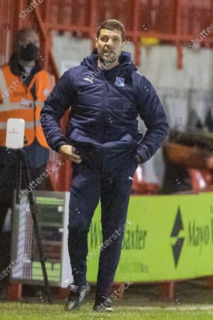 Mike Jackson, Manager of Tranmere Rovers FC during the EFL Sky Bet League 2 match between Crawley Town and Tranmere Rovers at The People's Pension Stadium, Crawley