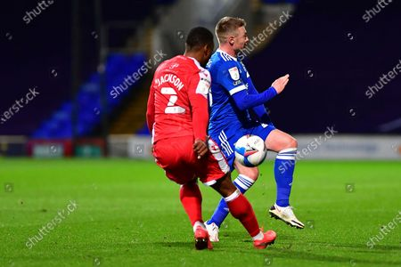 Ryan Jackson, Freddie Sears during the EFL Sky Bet League 1 match between Ipswich Town and Gillingham at Portman Road, Ipswich
