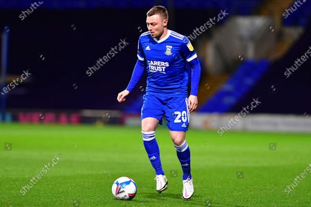Freddie Sears during the EFL Sky Bet League 1 match between Ipswich Town and Gillingham at Portman Road, Ipswich