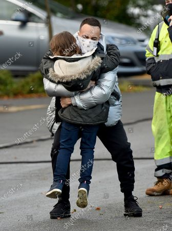 Joseph Gilgun with 9 year old actor Jude Riordan who has just landed a role in Coronation Street.