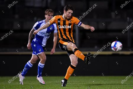 Richard Smallwood of Hull City clears the ball