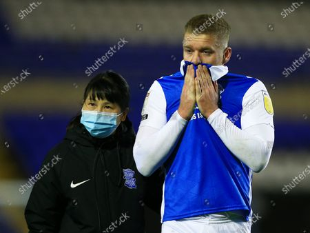 Adam Clayton of Birmingham City at the end of the game