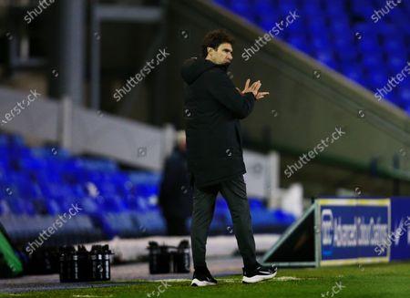 Birmingham City manager Aitor Karanka applauds