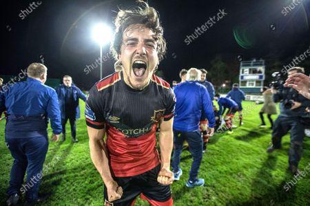 Cabinteely vs Drogheda United. Drogheda's James Brown celebrates after the game