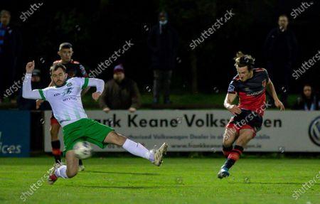 Cabinteely vs Drogheda United. Drogheda United's James Brown scores a goal