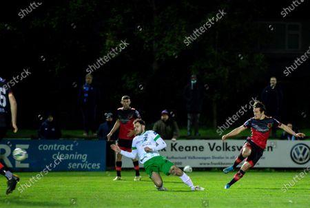 Cabinteely vs Drogheda United. Drogheda United's James Brown scores his sides first goal