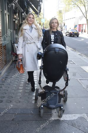 Victoria Featherstone Pearce and Pola Pospieszalska at The Ivy in Chelsea