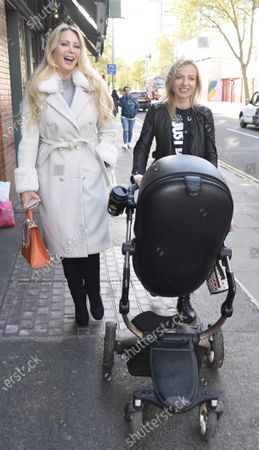 Stock Image of Victoria Featherstone Pearce and Pola Pospieszalska at The Ivy in Chelsea