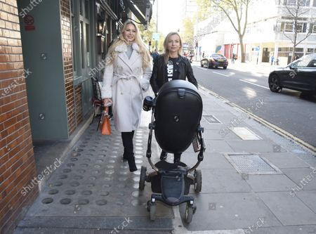 Editorial photo of Victoria Featherstone Pearce And Pola Pospieszalska out and about, London, UK - 27 Oct 2020
