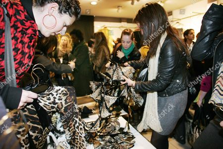 Customer Frenzy At Oxford Circus Branch As The Roberto Cavalli Collection Goes On Sale In H&m Stores Today A Collection By Roberto Cavalli For High Street Store H&m Flew Off The Shelves As It Went On Sale Today. About 300 Fans Of The Italian Designer Known For His Evening Wear And Who Is A Favourite With Victoria Beckham Beyonca And Jennifer Lopez Queued From As Early As 5am To Get Their Hands On An Affordable Version Of One Of His Trademark Animal Print Dresses. Within An Hour Of The Flagship Oxford Street Store Opening Shoppers Had Cleared All The Accessories In The Collection. A Gold Sequin Dress Priced At A149.99 Also Sold Out. A Spokesman Said The Company Was Likely To Have Completely Sold Out By The End Of The Day. Cavalli Follows Stella Mccartney And Karl Lagerfeld Who Have Also Designed One-off Collections For The Swedish Store. Fashion Students Leigh Herbert And Daniel Hull Both 20 Were Two Of The First People To Arrive In Oxford Street This Morning Before Spending Hundreds Of Pounds On A Dozen Items Between Them. Leigh Said: 'i Bought Four Dresses And Daniel Has Bought A Shirt A Necklace And Presents For His Friends. We Did The Same For The Stella Mccartney Launch. We Are Just Mad About Fashion Designers Especially Cavalli. 'we Have Been Looking At The Collection Online And Selecting The Pieces We Wanted. Some People Might Say We Are Mad But It Doesn't Happen Very Often That You Can Buy Designer Clothes For Affordable Prices.' The Collection Has 25 Designs For Women And 20 For Men Ranging From Accessories Scarves Underwear And Jewellery. Key Pieces Include A Goldbeaded Dress For A229.99 ? The Most Expensive Item ? And A Leopard Print Maxi Dress For A99.99. H&m Spokeswoman Chloe Bowers Said: 'what People Like Especially H&m Customers Is That They Can Actually Buy A Piece Of Designer Wear In The High Street For Affordable Prices. 'i've Just Been Told That The Birmingham Store Sold Out 20 Minutes After It Opened. As The Doors Opened People We