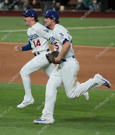 Editorial picture of Dodgers and Braves in game six of the World Series at Globe Life Field, Globe Life Field, Arlington, California, United States - 27 Oct 2020