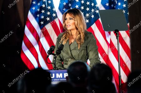 Editorial picture of Melania Trump & Kellyanne Conway Campaigning for Donald Trump in Atglen, US - 27 Oct 2020