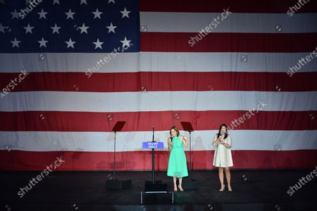 Stock Image of Lobbyist Mercedes Schlapp and Former White House Press Secretary Sarah Huckabee Sanders