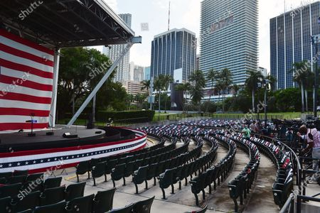 Atmosphere as White House senior adviser Ivanka Trump campaigns for her father at Bayfront Park Amphitheater