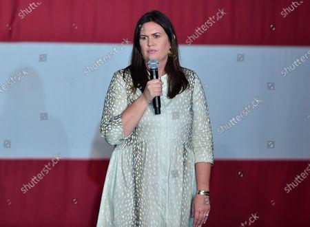 Stock Photo of Former White House Press Secretary Sarah Huckabee Sanders