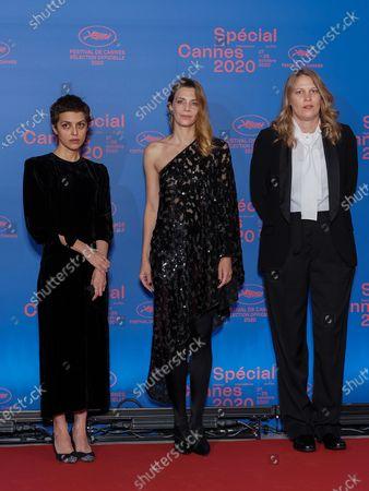 (L-R) Short Film Jury members Dea Kulumbegashvili, Celine Sallette and Claire Burger