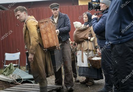 Gustaf Skarsgard during the filming of the movie, based on Swedish author Vilhelm Moberg's book