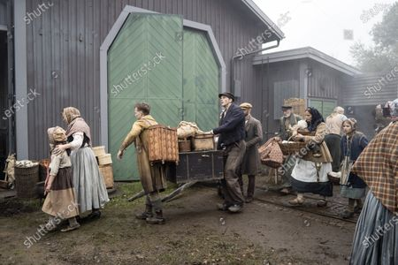 Stock Picture of Gustaf Skarsgard as Karl-Oskar during the filming of the movie, based on Swedish author Vilhelm Moberg's book