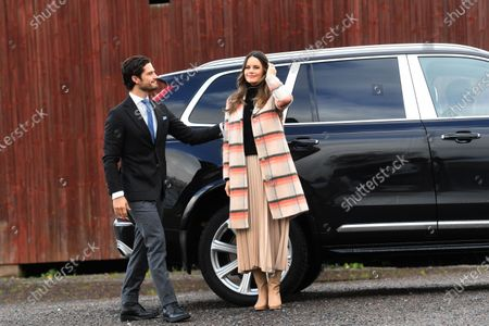 Prince Carl Philip and Princess Sofia visit Kulinarika at Aplungen, a restaurant and vineyard south of Sunne, Sweden. The Prince Couple are spending the day in Varmland County to see how it has been affected by Covid-19.