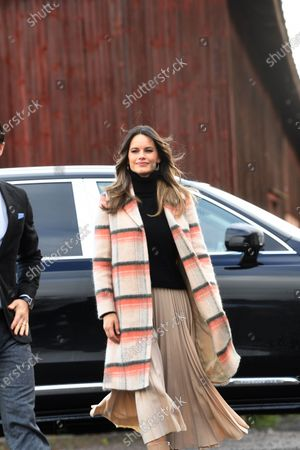 Princess Sofia visits Kulinarika at Aplungen, a restaurant and vineyard south of Sunne, Sweden. The Prince Couple are spending the day in Varmland County to see how it has been affected by Covid-19.