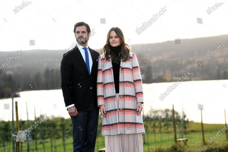 Prince Carl Philip and Princess Sofia visiting Kulinarika at Aplungen, a restaurant and vineyard south of Sunne, Sweden. The Prince Couple are spending the day in Varmland County to see how it has been affected by Covid-19.