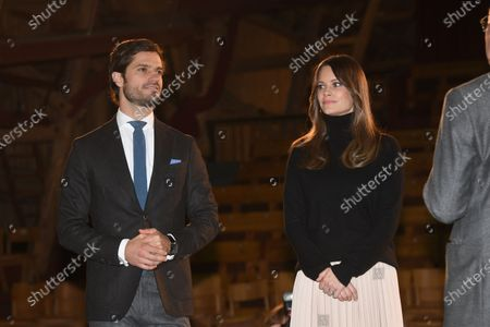 Prince Carl Philip and Princess Sofia at Vastana theatre in Sunne, Sweden. The Prince Couple are spending the day in Varmland County to see how it has been affected by Covid-19.