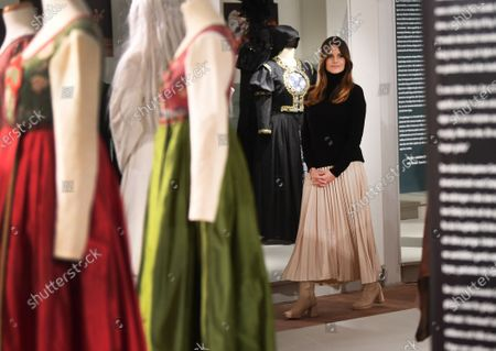 Princess Sofia looking at a costume exhibition at Vastana theatre in Sunne, Sweden. The Prince Couple are spending the day in Varmland County to see how it has been affected by Covid-19.
