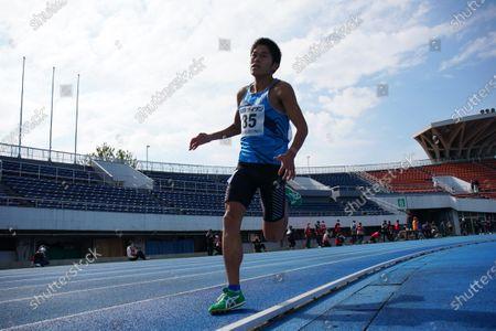 Yuki Kawauchi - Athletics :  Tokyo Athletics Middle Distance Challenge  Men's 1500m  at Komazawa Olympic Park General Sports Ground in Tokyo, Japan.