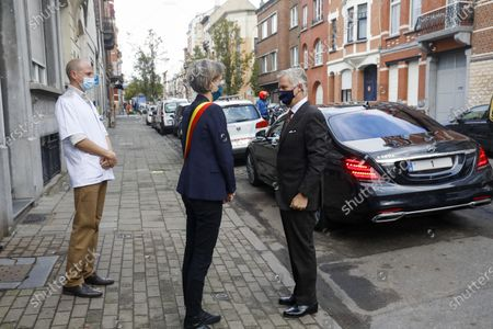 Editorial picture of King Philippe visits WGC De Brug health centre, Brussels, Belgium - 28 Oct 2020