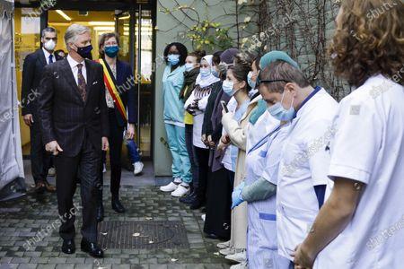 Editorial photo of King Philippe visits WGC De Brug health centre, Brussels, Belgium - 28 Oct 2020