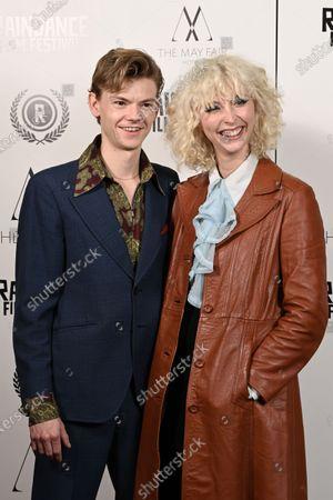 Thomas Sangster and girlfriend Gzi Wisdom