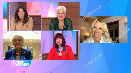 Andrea McLean, Denise Welch, Gloria Hunniford, Janet Street-Porter and Pamela Anderson