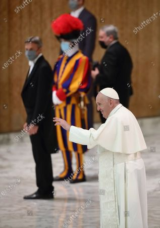 Stock Photo of Pope Francis ' weekly General Audience.