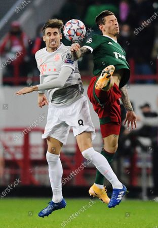 Editorial image of Lokomotiv Moscow v Bayern Munich, Champions League football match, Russian Railways Arena stadium, Russia - 27 Oct 2020