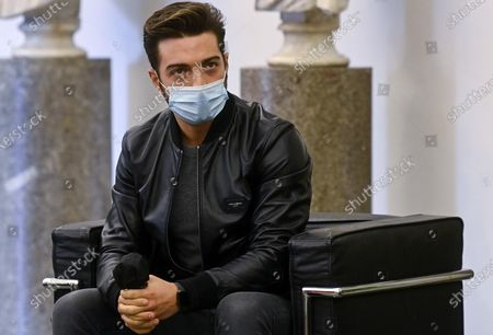 Gianluca Ginoble, a member of the Italian operatic pop tenors Il Volo, attends a press presentation of the tribute event 'Il Volo Tribute to Ennio Morricone' in Rome, Italy, 28 October 2020. The tribute concert dedicated to the late Italian composer Ennio Morricone is to be held in Rome on 05 June 2021.