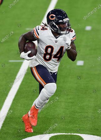 Chicago Bears wide receive Cordarrelle Patterson (84) gains yards on a run during an NFL football game against the Los Angeles Rams, in Inglewood, Calif. The Rams defeated the Bears 24-10