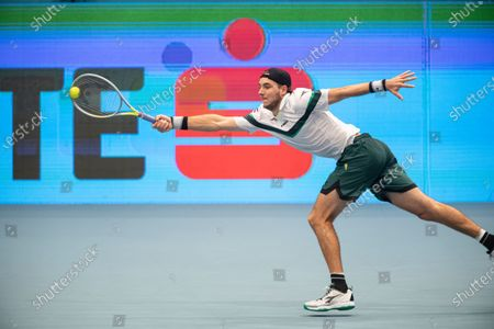 Jan-Lennard Struff of Germany in action during his first round match against Stefanos Tsitsipras of Greece at the Erste Bank Open ATP tennis tournament in Vienna, Austria, 28 October 2020.