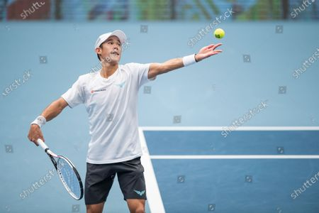 Stock Picture of Jason Jung of Taiwan in action during his first round match against Daniil Medvedev of Russia at the Erste Bank Open ATP tennis tournament in Vienna, Austria, 28 October 2020.