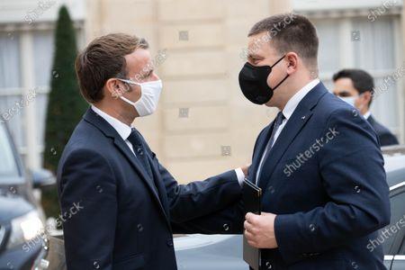 Emmanuel Macron and Juri Ratas.