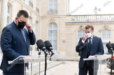 Editorial photo of Estonian Prime Minister Juri Ratas visit to Paris, France - 28 Oct 2020