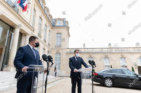 Juri Ratas and Emmanuel Macron.