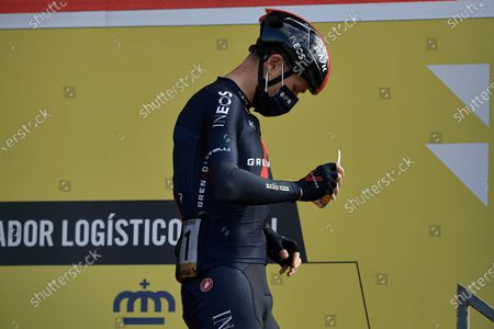 Ineos's Chris Froome during checkpoint control before starting the eighth stage of La Vuelta between Logrono and Alto de Moncalvillo, in Logrono, northern Spain