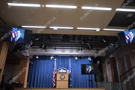 Editorial picture of Justice Department Officials Brief Media On Arrests connected to Operation Fox Hunt, Washington, USA - 28 Oct 2020