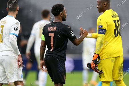 Editorial photo of Marseille vs Manchester City, Champions League Group C Olympique, France - 27 Oct 2020